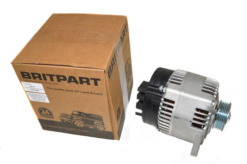 Safari Engineering Land Rover Specialist Hampshire – Alternator Assembly to fit Range Rover Classic 100AMP V8 1992 - 1994 - Britpart YLE10100