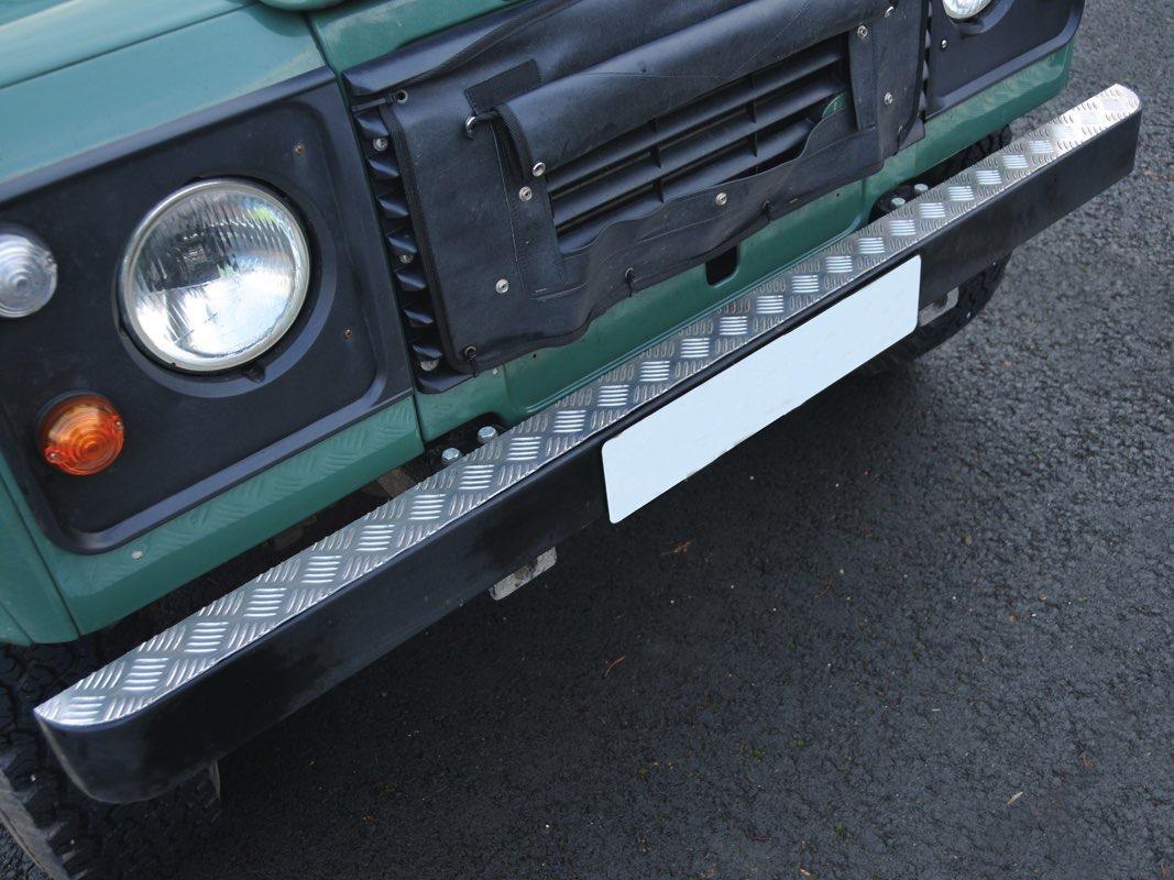 Safari Engineering Land Rover Specialist Hampshire - Aluminium Bumper Top Plate to fit Land Rover Series & Defender 90 & Defender 110 Britpart DA2054