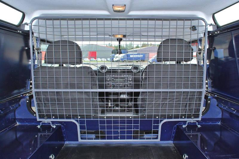 Safari Engineering Land Rover Specialist Hampshire Full Height Grey Mesh Dog Guard To Defender 110 & Defender 90 1987 – 2006 - Britpart STC7555