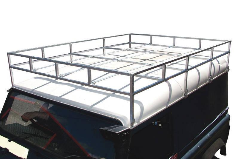 Safari Engineering Land Rover Specialist Hampshire Galvanised Roof Rack - Flat Floor – To Fit Land Rover Series SWB & Defender 90 – Britpart DA1093