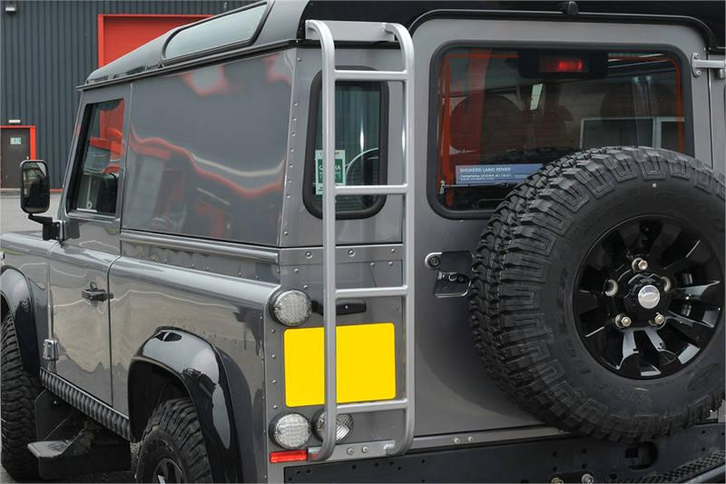 Safari Engineering Land Rover Specialist Hampshire Grey Roof Access Ladder to fit Defender 90 & Defender 110 – Britpart DA3073