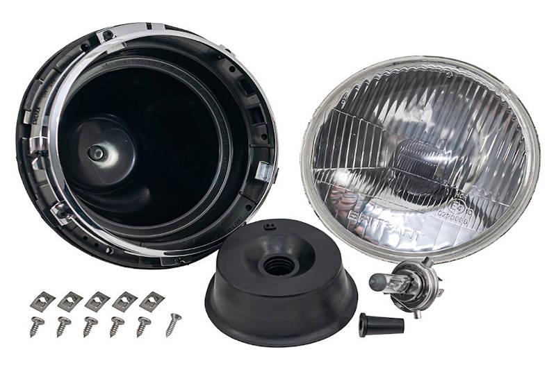 Safari Engineering Land Rover Specialist Hampshire – Halogen Headlamp Unit Assembly - Land Rover Series 3 Defender & Range Rover - BAU2144